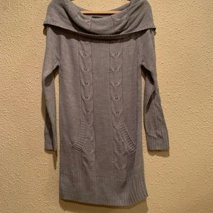 Gray sweater dress size L